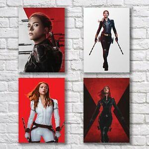Scarlett Johansson Poster A4 NEW Set HQ Print Black Widow Home Wall Decor