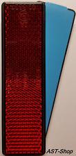 Reflektor 90x25 mm rot selbstklebend E-geprüft Rückstrahler Katzenauge Motorrad