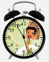 """Betty Boop Alarm Desk Clock 3.75"""" Home or Office Decor W158 Nice For Gift"""