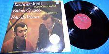 Rachmaninoff - Piano Concerto No. 3 / Rafael Orozco, Edo de Waart Philips LP