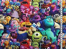 """Jersey """" Monster AG """" Disney - Alle Charaktere - Kinderstoff"""