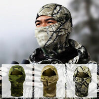 Tactical Outdoor Camo Hunting Scarf Cap Balaclava Winter Hat Face Mask Ski Mask