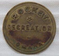 Omaha (Nebraska NE) Rocket Recreation Good for 25¢ In Trade Round Brass Token