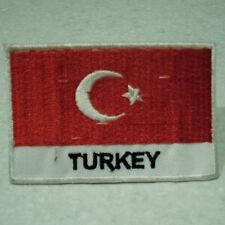 Turkey . Turkish Flag . Sew on / Iron on Patch  (6.8cm x 4.6cm)