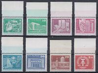 DDR Aufbau alle 8 Werte W Papier mit Oberrand postfrisch (VB-17/161-8)