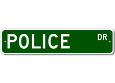 POLICE Street Sign - Personalized Last Name Signs