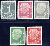 BUND 1960, MiNr. 179-285 Y II, tadellos postfrisch, gepr. Schlegel, Mi. 70,-