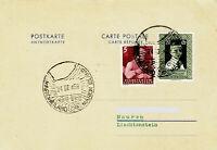 Polarpost Südafrika: MARION ISLAND 1958 - Carte Réponse / Liechtenstein