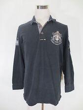 VAN SANTEN Button Polo Polohemd Sweatshirt L XL langarm schwarz /GG3