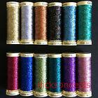 Gutermann Metallic Effect Sparkling Glitter Thread 50m Metre reel 12 Colours
