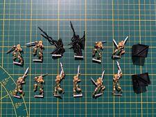 Warhammer Wood Elves Waldelfen 12 Wardancers Kampftänzer Metal Rare Used OOP