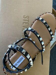 Steve Madden genuine size 9 brand new studded sandals - black
