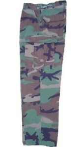 Genuine US Army Government Issue Woodland Camo BDU Trousers or Pants