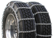 ACCO V-Bar Reinforced Snow Chains for Dual Rear Tires 255/70R22.5 9-22.5 8.25-20