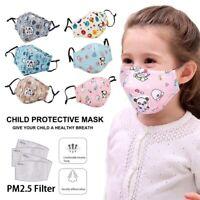 1 Masque de protection enfant tissu coton lavable  + 10 filtres PM 2.5