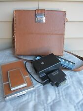 Polaroid SX-70 Instant Land Camera with Original Case Film Flashbulbs holder