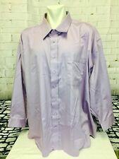 NWOT Men's 5XL 21-36 Tall & Long Lavender Dress Shirt.