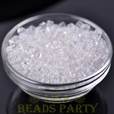 100pcs 4mm Cube Square Faceted Crystal Glass Loose Spacer Beads Clear