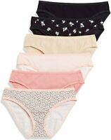 Essentials Women's Cotton Stretch, 6-pack Rose Assorted, Size X-Large o6R