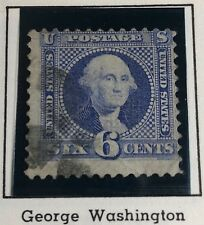 U.S. #115 1869 6¢ Washington Pictorial G Grill