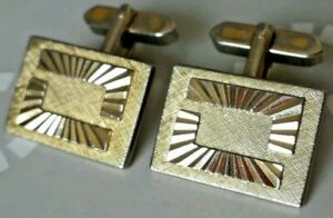 Manschettenknöpfe Designer Vintage Modernist Buntmetall vergoldet cufflinks