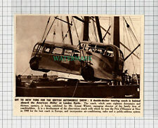 C2830) Ernest Whittit Touring Coach Aboard The American Miller - 1950 Clip