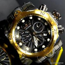 Invicta Venom Swiss Movt Chronograph 53mm Stainless Steel Black Gold Watch New