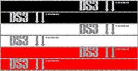 POUR CITROEN DS3 2 X BANDES COTES RALLYE 200cmX16cm AUTOCOLLANT STICKER (DA140)