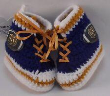 Handmade Crochet Notre Dame Fighting Irish Football High Tops Baby Booties   Ado