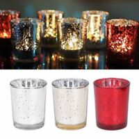 KQ_ Mosaic Glass Tealight Votive Candle Holder for Wedding Party Bar Home Decor