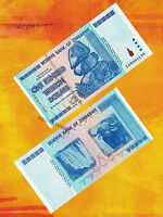 100 Trillion Zimbabwe Dollars Bank Note Very Rare Replacement ZA Prefix 2008 UNC