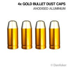 4x Gold Bullet Car Bike Motorcycle BMX Wheel Tyre Valve Aluminium Dust Caps