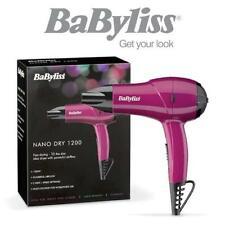 BaByliss 5282BAU Nano Dry 1200 Travel Hair Dryer Compact Lightweight 1200W Pink