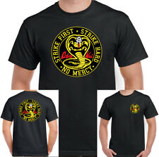 Cobra Kai T-Shirt Strike First Mens Karate Kid Inspired Mr. Miyagi Martial Arts