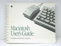 VTG 1991 Macintosh Users Guide Desktop Mac Computer Instruction Guide Retro Book