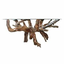 Teak root Dining Table For 70 Inch Glass Top