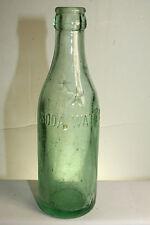 Embossed Macon GA Coca Cola Bottling Co Soda Water 6 1/2 oz Aqua Soda Bottle