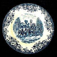 "Johnson Bros Coaching Scenes Dinner Plates 9.75"" Blue Ironstone England"