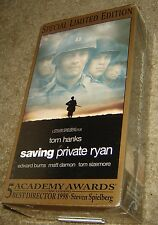SAVING PRIVATE RYAN TWO TAPE VHS SET, NEW & SEALED, OSCAR WINNER, WITH TOM HANKS