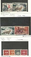 French Equatorial Africa, Postage Stamp, #C35, C39, C41 Used, J12-15 Mint LH