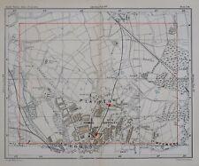 1896 MAP STREET PLAN LONDON BROMLEY PLAISTOW FARWIG STATIONS SHORTLAND SCHOOL
