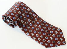 "Ermenegildo Zegna Men's Tie, NWOT, 100% Silk, Made in Italy, Brown, Blue, 57"""