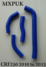 CRF250 2011 SILICONE HOSES IN BLUE  2010 CRF 250 MXPUK HOSE KIT CR250F (415)