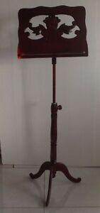 wooden Musicians Gear Folding Music Stands Adjustable Compact Sheet Music Stand