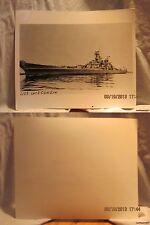 Reprint 8x10 Photo-USN: U.S.S. Wisconsin [BB64]-Korean War