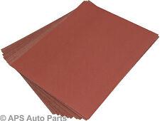 20 Wet Dry Sanding Sheets Sandpaper Metal Wood Painted Medium Coarse Fine Emery