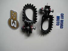 S3 HARDROCK TRIALS BIKE FOOTRESTS / FOOTPEGS. BLACK STEEL. FITS ALL MODELS.