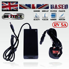 12V 5A PLUG-IN POWER SUPPLY / 60 WATT AC -> DC POWER CONVERTER/ADAPTER/1-WAY PSU