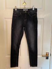 Black Topshop Moto Leigh Jeans Size W26 L30 (A7300)