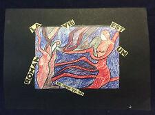 Pierre Ledda (1914-1994) Collage technique mixte signé vers 1970 France
